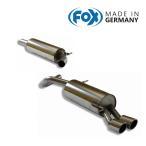 FOX フォックス オールステンレスマフラー(フロントマフラー+リアマフラー) VOLKSWAGEN Polo (6R) / ポロ (6R) 1.8GTI用 90mm 斜め ダブル