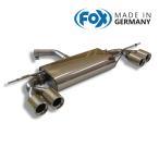 FOX フォックス オールステンレスマフラー(リアマフラー) VOLKSWAGEN Golf6 / ゴルフ6 1.2TSI/1.4TSI用 80mm ダブル 左右