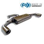 FOX フォックス オールステンレスマフラー(リアマフラー) VOLKSWAGEN Golf6 / ゴルフ6 GTI/GTI エディション35用 100mm 斜め 左右