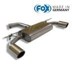 FOX フォックス オールステンレスマフラー(リアマフラー) フォルクスワーゲン ゴルフ7 GTI用 100mm 斜め 左右