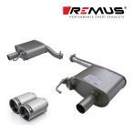 REMUS レムス リアマフラー A4(8K) 3.2FSIクワトロ ('08-'09)/A5(8T) 3.2FSIクワトロ ('08-'10)用 φ98 ストリートレース 左右 (品番:048208 0500LR+0026 98C)