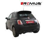 REMUS レムス リアマフラー アバルト500 ('09-)用 Φ98 ストリートレース 左右 (品番:182510 0500+0026 98C)