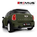 REMUS レムス リアマフラー MINI クーパーS/クーパーSD クロスオーバー(R60)/クーパーS ペースマン(R61)用 Φ98 ストリートレース ブラッククローム 左右