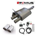 REMUS レムス リアマフラー F56(3ドア) ミニ クーパーS用 Φ102 アングル ダブル(品番:755214 097STE+0026 70S)