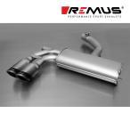 REMUS レムス リアマフラー ゴルフ6 トレンドライン/シロッコ 1.4 TSI用 Φ84カーボンレース ダブル (品番:952608 0584CS)