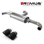 REMUS レムス リアマフラー ゴルフ6 GTI/ゴルフ6 GTI エディション35用 Φ102 カーボン アングル 左右 (品番:956008 0500+0026 70CS)
