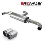 REMUS レムス リアマフラー ゴルフ6 GTI/ゴルフ6 GTI エディション35用 Φ98 ストリートレース 左右 (品番:956008 0500+0026 98C)