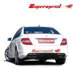 Supersprint スーパースプリント リアマフラー MERCEDES BENZ/メルセデス ベンツ W204/セダン/ワゴン/C250/C300/C350 (品番847633+847603+847604+847634+847627)