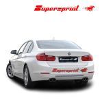 Supersprint スーパースプリント リアマフラー BMW F30 320i SEDAN '12-'15/8/F30 320i XDrive SEDAN'12-'15/8(品番:987843+987903+987906)