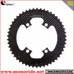Carbon・Ti X-Ring ROAD Al/Ca チェーンリング 4アーム PCD110 アルミ(ブラック)/カーボン アウター用
