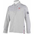 ルコック メンズ ゴルフウェア QG1015 N942 ホワイト 長袖シャツ ボタンダウン ポロシャツ 2015FWCZ