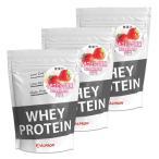 プロテイン ホエイ WPC 1kg イチゴミルク 3個 セット アルプロン アミノ酸 筋トレ 約150食分 タンパク質含有量約75%