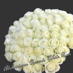 白いバラ50本のブーケ