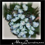 高級青バラの花束 ブルーのバラ50本のブーケ