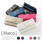 【Marco -マルコ-】ラベルプレート長財布