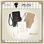 ショッピングキティ 【Silhouette -シルエット-】ハローキティ 型押しiPhoneケース