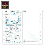 ログブック 6穴タイプ 30ダイブ゛分 ナイトロックス対応 ダイビングアクセサリー ログブックレフィル ブルー×ブラック dive-1