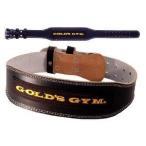 GOLD'S GYM ゴールドジム ブラックレザーベルト G3367 その他の競技ウエイトリフティングベルト