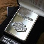 純銀ZIPPO HARLEY-DAVIDSON バー&シールド ロゴプレート ハーレーダビッドソン ZIPPO 純銀ジッポ プレゼント 人気 スターリングシルバー 高級ジッポ