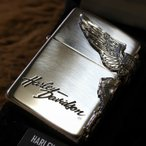 純銀ZIPPO HARLEY-DAVIDSON サイドウイング ハーレーダビッドソン ZIPPO 純銀ジッポ プレゼント 人気 スターリングシルバー 高級ジッポ ライター