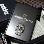 【サイモンカーター】スカルスワロフスキー ブラック つや消し ジッポ 人気 送料無料 ブランド 黒 髑髏 ドクロ