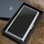 【PEARL】 超薄型 シガレットケース ブラックパネル 6本 リリースリム 85mm 100mm ロングサイズ対応 タバコケース たばこ入れ