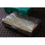 PEARL ブランド シガレットケース 85mm 12本 ヴィーナス シルバー アラベスク 人気 タバコケース たばこケース 真鍮製