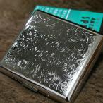 PEARL カジュアルメタル20 キングサイズ シガレットケース アラベスク模様 シルバー 20本 85mm 人気 ブランド たばこケース タバコケース 煙草ケース 銀
