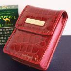 【LUXE CANDY】シガレットケース レッド 赤 レディース 人気 クロコ柄 ブランド シガレットポーチ 素敵なたばこポーチ かわいいタバコケース