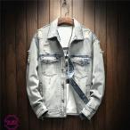 デニムジャケット メンズ Gジャン ジャケット デニム ダメージ加工 ジージャン ビンテージ加工 ヴィンテージ バイクウェア 秋服