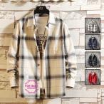 ネルシャツ メンズ 裏起毛 厚手シャツ 長袖シャツ チェックシャツ ビジネス カジュアル シャツ 暖かい トップス 秋冬 父の日