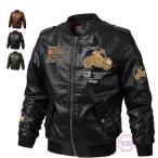 革ジャケット メンズ バイクジャケット バイク柄 ライダースジャケット レザージャケット カジュアル 革ジャン 新品 防風 春物