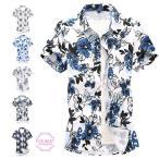 半袖シャツ メンズ アロハシャツ 花柄シャツ カジュアルシャツ ビジネス 旅行 大きいサイズ 夏物 父の日