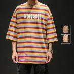 七分袖Tシャツ メンズ 五分袖 カジュアルTシャツ ボーダー柄 カットソー ビッグシルエット アメカジ 涼しい 夏 父の日