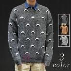 セーター メンズ ニット ニットセーター おしゃれ 柄物 クルーネック 大きいサイズ ルームウェア カジュアル 防寒 秋冬