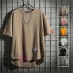 七分袖Tシャツ メンズ おしゃれ 半袖Tシャツ バック長め 五分袖Tシャツ ゆったり カットソー 大きいサイズ 夏