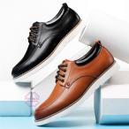 デッキシューズ メンズ  歩きやすい革靴 紳士靴 スリ