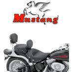 Mustang STUDDED シート ソフテイルモデル用 2008年以降FLSTC、2000〜07年FLSTS/Cに適合 (リアシート) ◆ハーレー◆