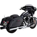 ★ VANCE&HINES OVERSIZE 450スリップオンマフラー ツーリングモデル用  /TITAN:クローム/ブラック ◆ハーレー◆