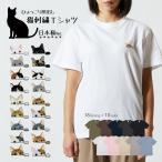 【第1弾】 ネコ 猫 刺繍 ワンポイント 半袖 Tシャツ ユニセックスサイズ 三毛猫 白猫 黒猫 はちわれ ポケット オリジナルデザイン 可愛い シンプル