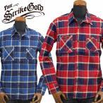 THE STRIKE GOLDストライクゴールド インディゴツイルチェックワークシャツINDIGO TWILL CHECK WORK SHIRTS「SGS017」
