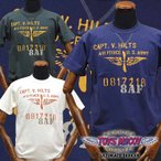 TOYS McCOYトイズマッコイ ヒルツTシャツCAPT. V.HILTS TEE「ARMY AIR FORCE」TMC1514/アメカジ/メンズ/ミリタリー/