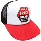 TRUCK BRAND BATTERY MESH CAP(バッテリーメッシュキャップ) ブラックXレッド