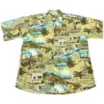 UNIQUE BATIK ROUTE 66 HAWAIIAN SHIRT(ユニークバティックルート66アロハシャツ)
