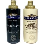 Ghirardelli ギラデリー プレミアム ソース (チョコレート、 ホワイトチョコレート) 454g選べる2個セット