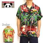パンディエスタ PANDIESTA 529215 半袖シャツ ヤシの木パンダアロハシャツ 熊猫 トップス メンズ
