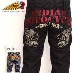 インディアンモトサイクル Indian Motocycle IMBL-707 パッチワークジャガードパンツ ブラック色