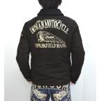 ポイント最大21倍! インディアンモトサイクル Indian Motocyacle IMJK-605 ゴートスウェードランチジャケット ブラック色 刺繍