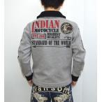 ポイント最大21倍! インディアンモトサイクル Indian Motocyacle IMSZ-609 ボンディング N-1 デッキジャケット ミックスグレー色 刺繍