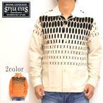 スタイルアイズ STYLE EYES SE27724 長袖 オープンシャツ オフホワイト色 エルビスドッツ コーデュロイスポーツシャツ 東洋エンタープライズ